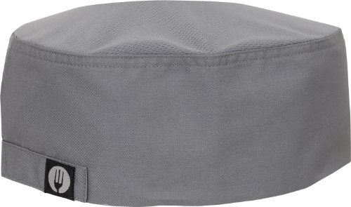 Chef Works Mens Cool Vent Chef  Beanie, Gray, One Size