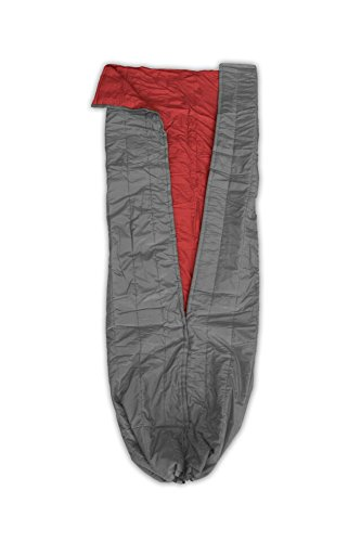 ENO - Eagles Nest Outfitters Spark TopQuilt, Ultralight Camping Quilt, Red/Charcoal