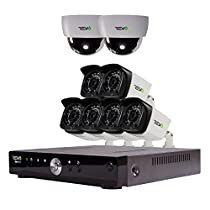 REVO America Aero HD 1080p 8 Ch. Video Security System with 8 Indoor/Outdoor Cameras, White/Black (RA81D2GB6G-1T)