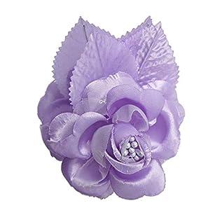 12 Silk Roses Wedding Favor Flower Corsage Pick - Lavender 47