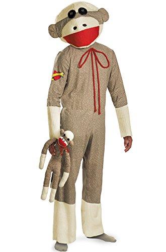 Sock Monkey Adult Costume, XL (Sock Monkey Costume For Adults)