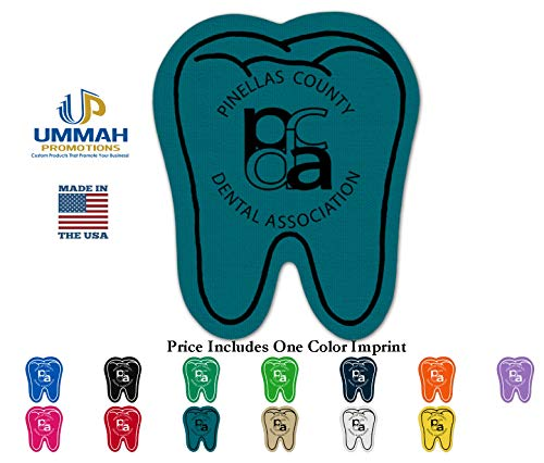 Custom Imprinted Envelopes - 300 Personalized Tooth Rubber Jar Opener Printed With Your Logo/Message/Name