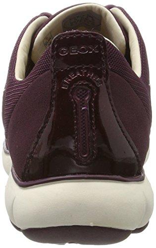 Geox Nebula Femme Basses prune Rose A Sneakers Violet UTvfSUq