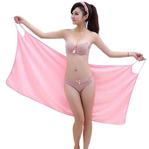 spiaggia da da donna Soft bagno 150x70cm super da Wrap Red sexy Asciugamano Asciugamano gonna assorbente bagno indossabile Asciugamano 7PnqFd1