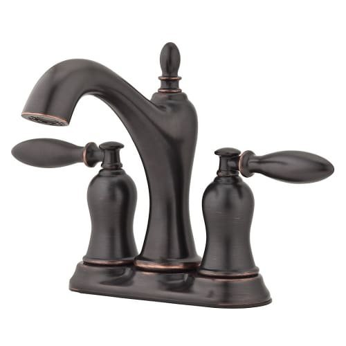 (Pfister LF-048-ARYY Arlington Tuscan Bronze 2-Handle 4-in Centerset WaterSense Bathroom Faucet)