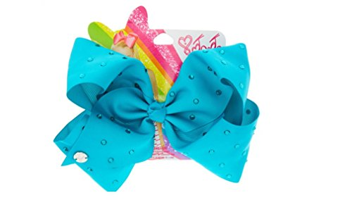 Designs Stoned (Claires JoJo Siwa Large Blue Stoned Signature Hair Bow)