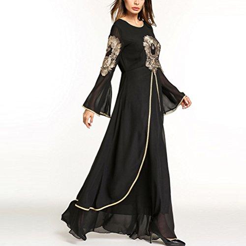 Stile Musulmani Le Donne Abiti Casuali Nere Zhuhaitf Sauditi Malesi Chiffon Per Marocchino Arabia Di Jalabiya Musulmano dqfSfT