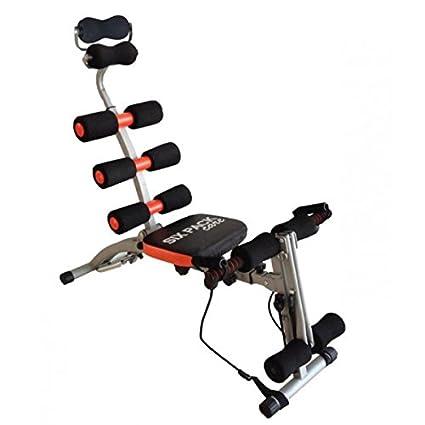 Inditradition 6 Pack Ab Exerciser Full Body Workout Machine Black