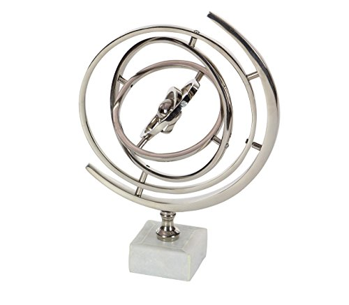 Deco 79 28537 Armillary Sphere Sculpture with Ceramic Base, 13