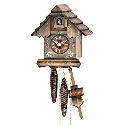 German Cuckoo Clock 1-day-movement Chalet-Style 8.00 inch - Authentic black forest cuckoo clock by Hekas