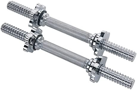 Sunny Health Fitness 14 in. Chrome Dumbbell Bar