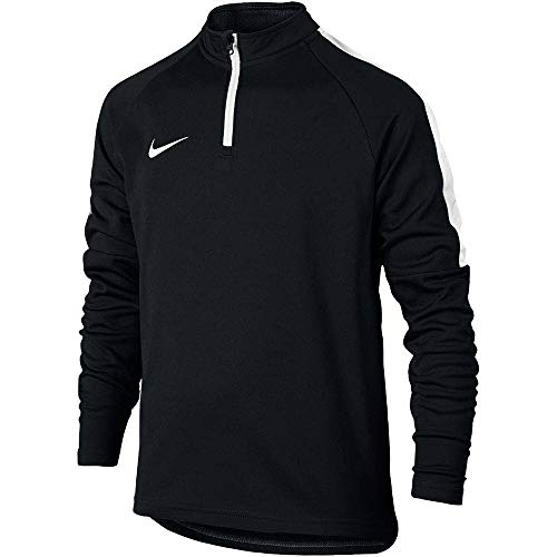 - Nike Kids' Dry Academy Drill Soccer Top 1/4 Zip Black Jacket (Medium)