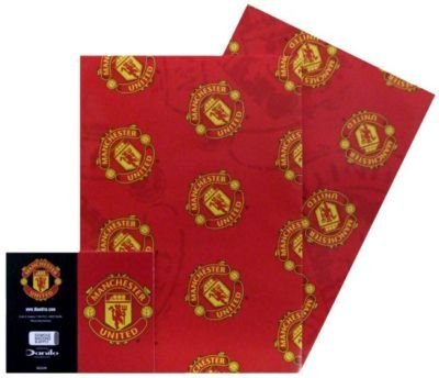 Manchester United FC Gift Wrap with Tags
