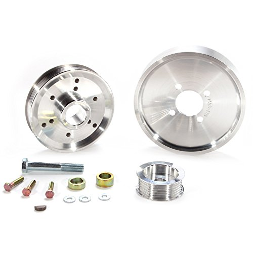 BBK 1559 Underdrive Pulley Kit for Ford Mustang 4.6/ GT - 3 Piece Lightweight CNC Machined Aluminum Kit ()