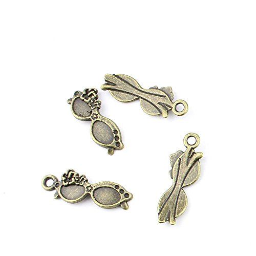 5 pieces Anti-Brass Fashion Jewelry Making Charms 3099 Sunglasses Wholesale Supplies Pendant Craft DIY Vintage Alloys Necklace Bulk Supply Findings - Sunglasses Wholesale Vintage