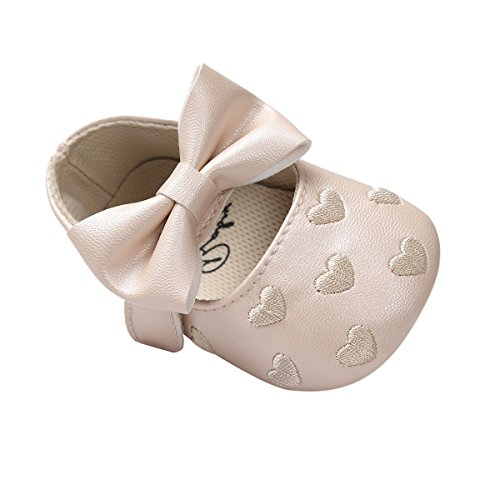 Baby Brown Child auxma per Soft Girl mesi 18 antiscivolo pelle 0 Shoes in Slippers Single Bowknot rTZr4w