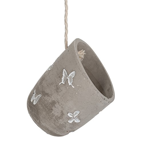 - Abbott Collection Cement Butterfly Hanging Planter