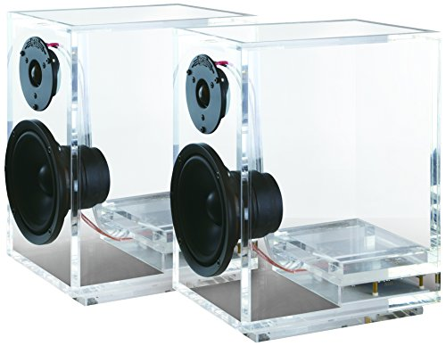 ONEaudio Surround Expandable Bookshelf Home Speaker Set of 2 Transparent (classic2-2.0)