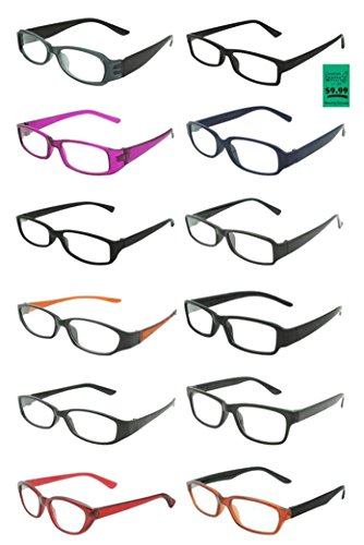 12 PAIR wholesale bulk lot ASSTORTED DELUXE FASHION READING GLASSES STYLES #A