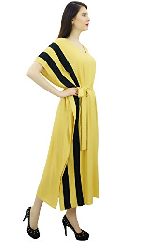 Cover Pannels Designer Beige Night Womens with Bimba Maxi Side Belt Long Kaftan Rayon up Dress Caftan zZq8w
