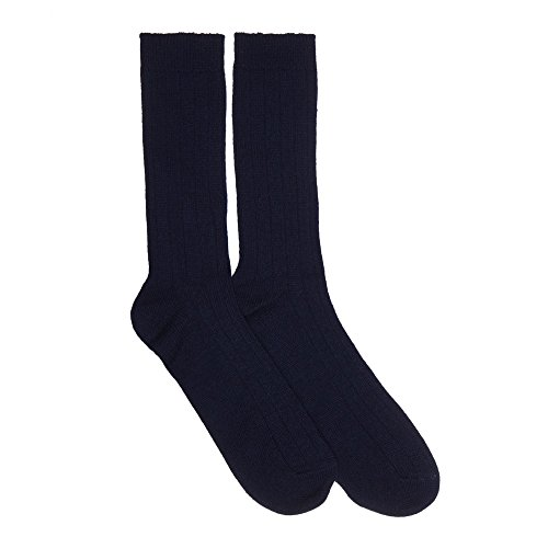 (Mens Cashmere Socks, Navy M )