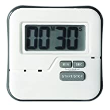 CDN TMW1 Big Digit Waterproof Timer, White, 3""