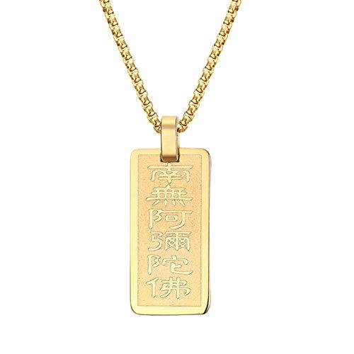 e088b9a8c6ba 85% OFF joielavie joyas colgante collar escudo etiqueta budismo chino carta  amuleto Religión de doble