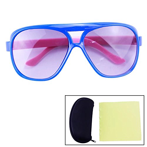 Sealive Double Beam Children Kids Sunglasses Fashion Style Outdoor Travel Glasses Boys Girls(Blue Frame Pink Leg),With a Sunglasses Hard Case Protector and Microfiber Cleaning Cloth(Random - Safety Sunglasses Polarised