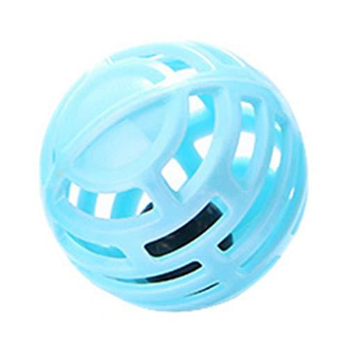 Dserw Pet cat hollow plastic bell ball assault seek chew scratch training toy fun healthy pet supplies