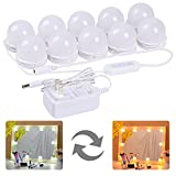 LED Vanity Mirror Lights Kit – MRah Upgraded 2 Color Lighting Modes Makeup Mirror Lighting Fixture with 10 Dimmable Bulbs for Vanity Table Set, Bathroom Mirror (Mirror Not In