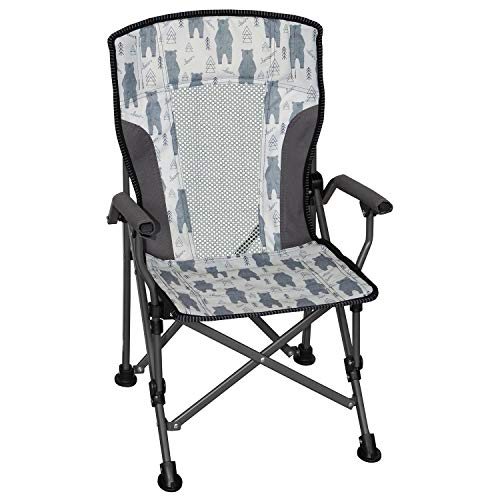 Member's Mark Kids' Folding Portable Light Weight Arm Chair with Matching Storage Bag & Carrying Strap (Bear)