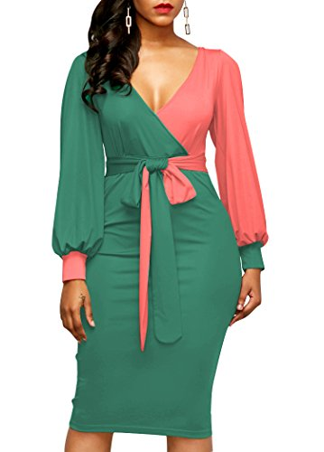 color block sheath dress - 4