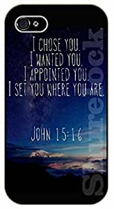 iPhone 5 / 5s Bible Verse - I choose you. I wanted you. I appointed you. I set you where you are. John 15:16 - black plastic case / Verses, Inspirational and Motivational