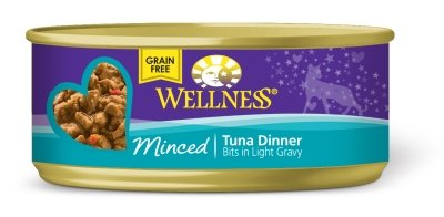 WELLPET, LLC - WELLNESS CAT DINNER MINCED TUNA Case 24/5.5OZ