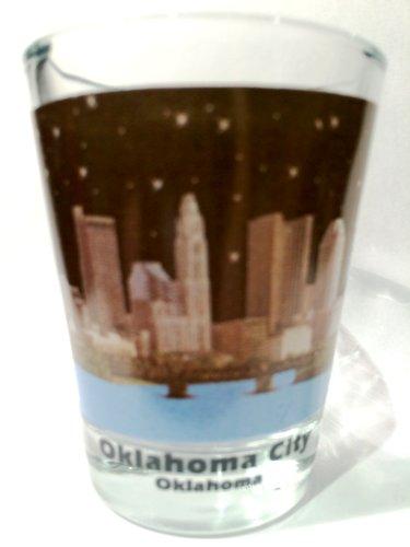 Oklahoma City Oklahoma Night Skyline Color Photo Shot - Oklahoma Glasses City
