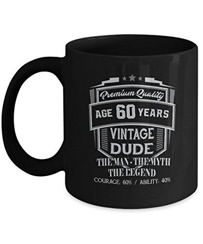 Sterling Gold Iced Beverage (60th Funny Anniversary Gifts Ideas Aged Premium Quallity Vintage Dude Man - Myth Legend 11oz Mug)