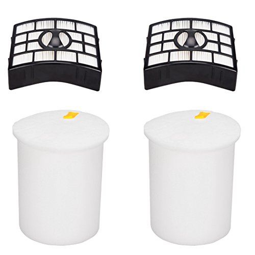 I-clean Filters for Shark Rotator Powered Lift-Away XL Capacity NV755, 2 Packs Foam & Felt Filter Kit for Shark NV755, UV795 Rotator Lift-Away Vacuum Cleaner