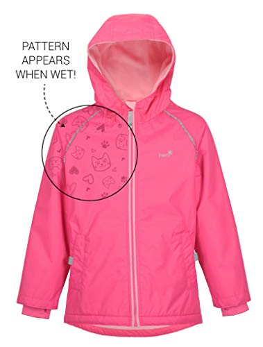 Therm Wind and Waterproof Lightweight Fleece Lined Rain Jacket with Magic Print (8, Paradise Pink) by Therm
