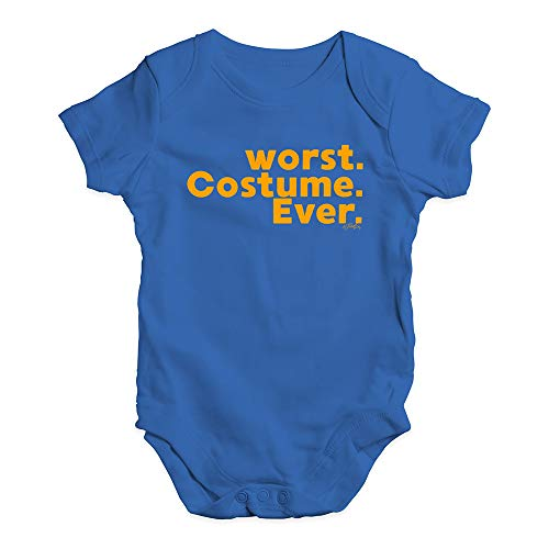 TWISTED ENVY Funny Baby Onesies Worst. Costume. Ever. Baby Unisex Baby Grow Bodysuit 6-12 Months Royal -