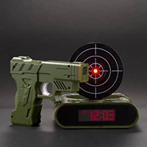 Newerpoint Lock N' load target alarm clock/Gun alarm colck - camouflage
