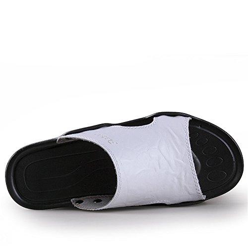 di Dimensione Sandali 38 lacci Marrone EU Sandali senza da Bianca pelle vera da Pantofole antiscivolo vacchetta uomo BINODA spiaggia in Color wfqd01OT1x