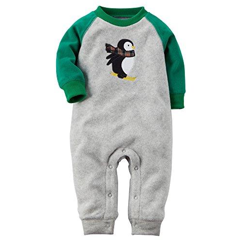 Carters Raglan Penguin Fleece Jumpsuit