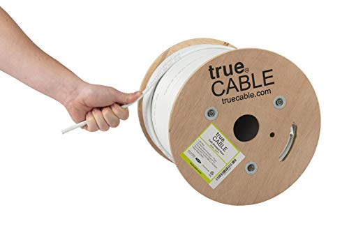 - Cat6 Shielded Riser (CMR), 500ft, White, 23AWG Solid Bare Copper, 550MHz, ETL Listed, Overall Foil Shield (FTP), Bulk Ethernet Cable, trueCABLE