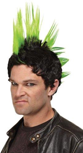 WMU - Green Punk Rock Wig - Standard -