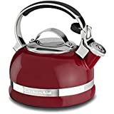 KitchenAid KTEN20SBER 2.0-Quart Kettle with Full Stainless Steel Handle and Trim Band, Empire Red