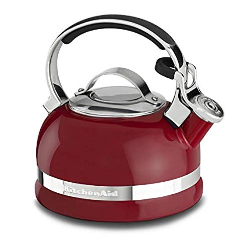 (KitchenAid KTEN20SBER 2.0-Quart Kettle with Full Stainless Steel Handle and Trim Band - Empire Red)