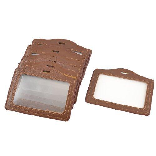 eDealMax 10 Pcs Brown Horizontal de Carte Nom Badge d'identification Supports Pour l'cole Ouvrier d'usine