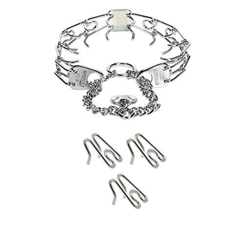 Herm Sprenger Prong Training Bundle of Herm Sprenger Prong Collar and Herm Sprenger Collar Links. Bundle Includes Herm Sprenger Ultra-Plus Prong Training Collar (14 inch) & 3 Pack of 2.25mm Links ()