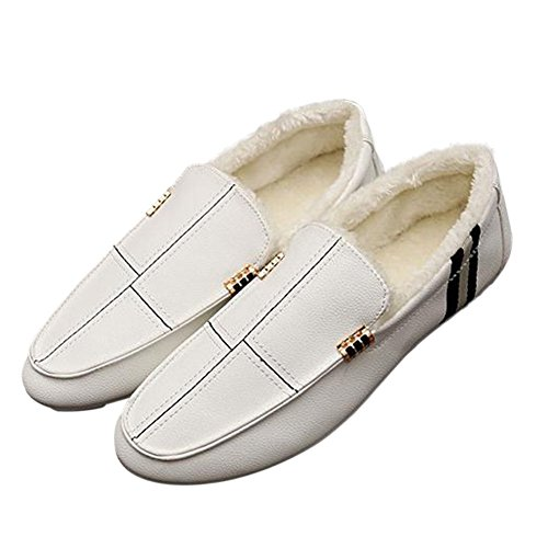 Zhuhaixmy On New Slip Slippers Men Flat Shoes Fashion Casual Driving White Loafers rrwHBqnx