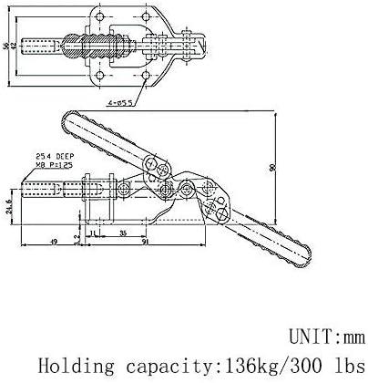 136,1/kilogram Capacit/é Saim Outil /à Main 302/F /à d/égagement rapide Push//Pull Sauterelle